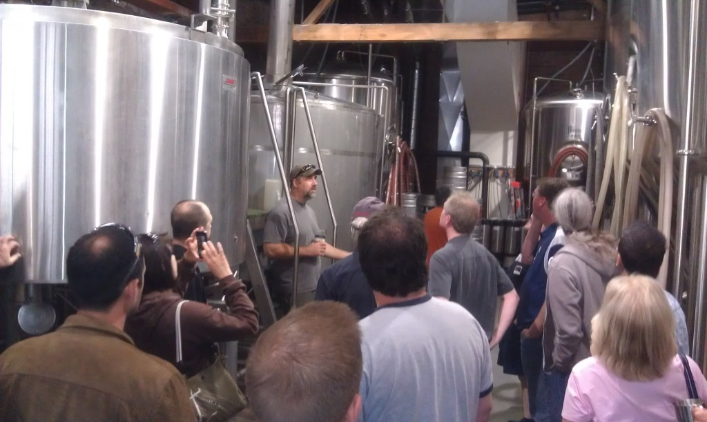 J.J. Phair of E.J. Phair gives a tour of the brewhouse