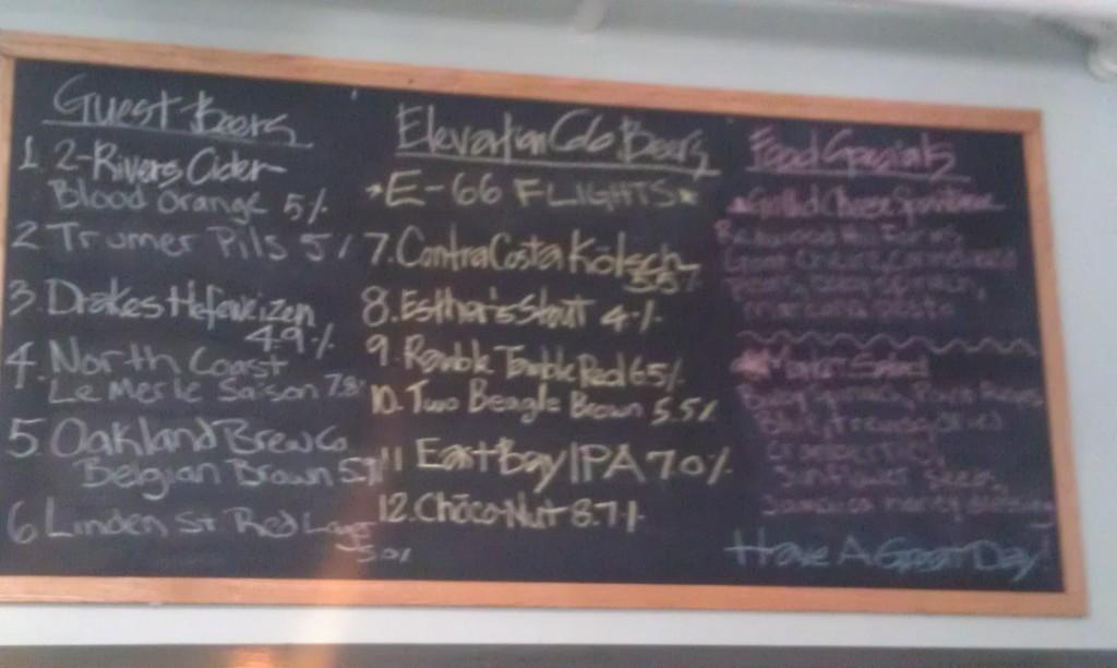 Elevation 66 tap list