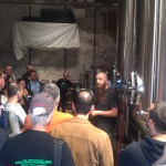 Adam Lamoreaux, Linden Street Brewer/Owner gives a tour