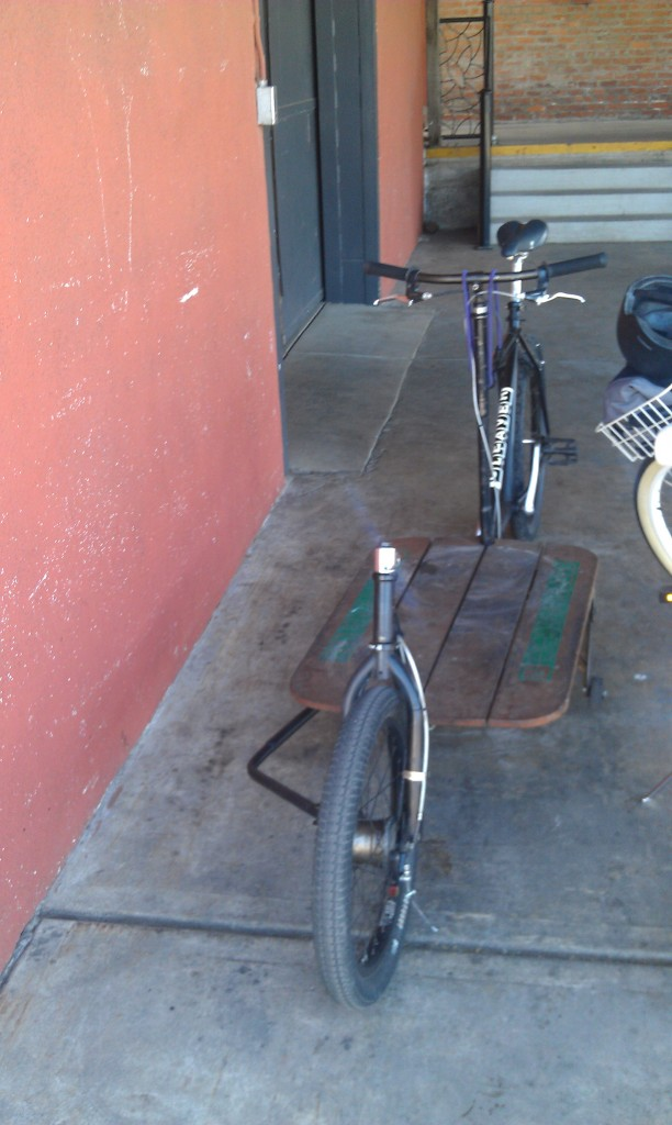 Custom bicycle for delivering kegs of Linden Street Towne Lager