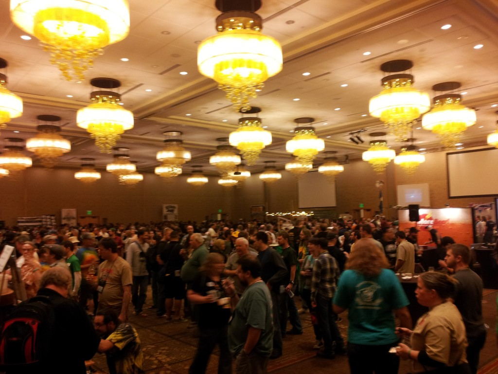 1800 attendees enjoy club night. Club booths filled the grand ballroom and overflowed into the foyer!